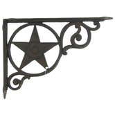 Rust Star Metal Bracket